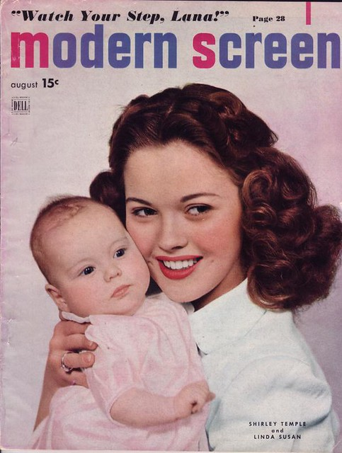 Shirley Temple & baby daughter on the cover of Modern ...