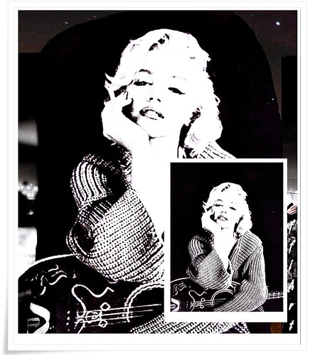 collage mm marilyn monroe m m bw sw black and white. Black Bedroom Furniture Sets. Home Design Ideas