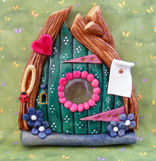Heart salt dough fairy door flickr photo sharing for Original fairy door