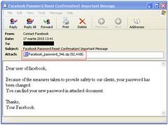 Facebook falso correo