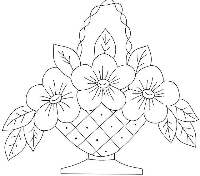 Simple Flower Basket Drawing : Flower basket flickr photo sharing