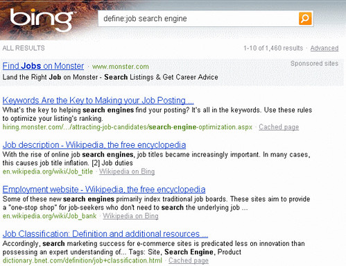 define-job-search-engine-bing