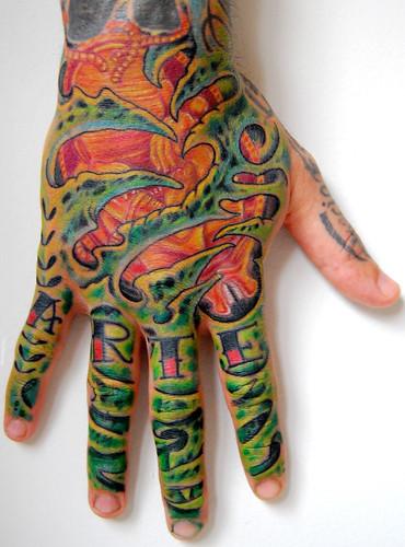 Organic hand tattoo Da Vinci Fetus tatuagem