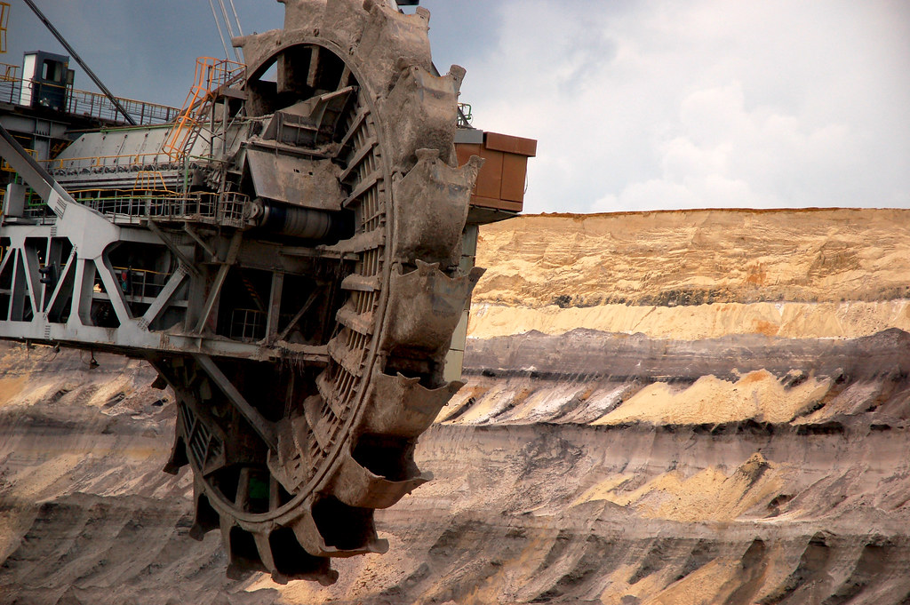the enormous bucket-wheel
