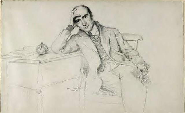 André Gide, de Paul-Emile Bécat, dessin, 1919