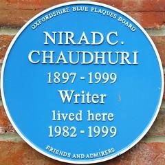 Photo of Nirad Chandra Chaudhuri blue plaque