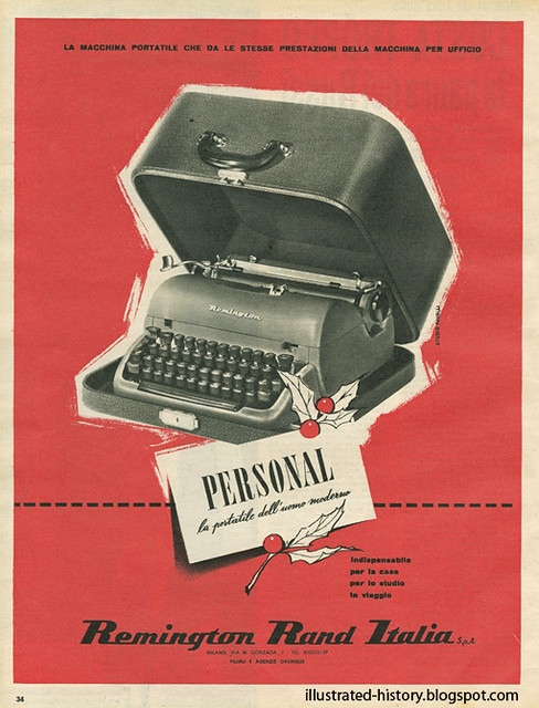 Pubblicità REMINGTON 1954