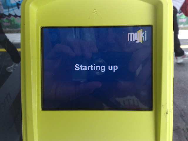 2/3 Myki scanners at Bentleigh this morning