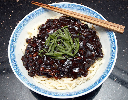 Anthony's jjajangmyeon (black bean noodles)