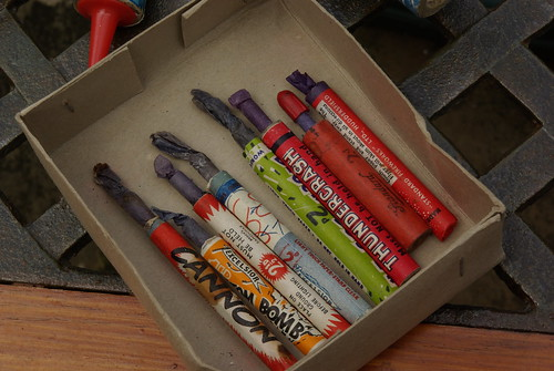 Box Of Old Fireworks