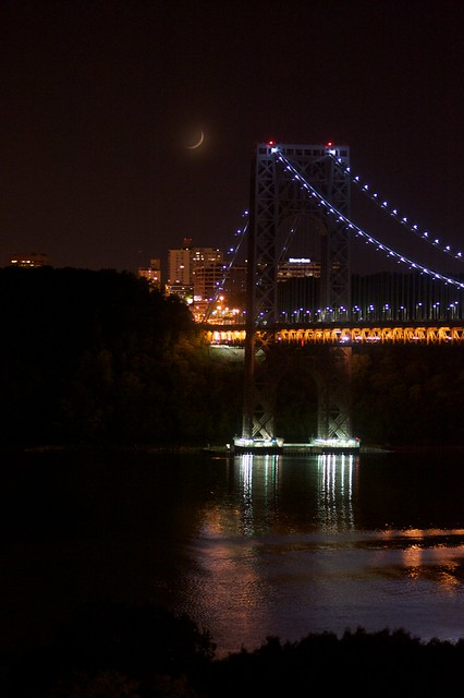 Crescent Moon Over GWB