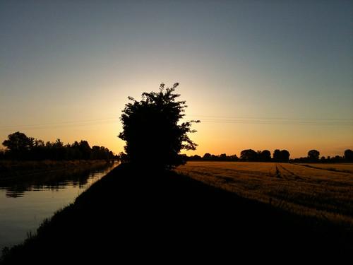 sky sun water landscape dawn countryside solitude campagna roverbella isolation agriculture acqua sorrow paesaggio lonliness agricoltura irrigazione molinella consorziodibonifica