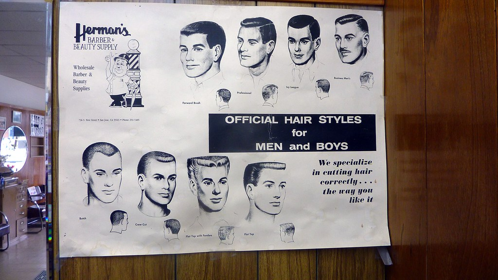 Official Hair Styles For Men And Boys Sign Simpsons Barbershop