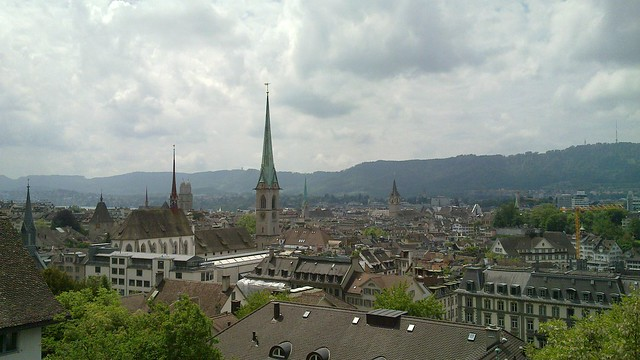 The view from the main ETH building
