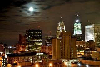 Newark  night sky