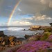 Rainbow at Lovers Point - Pacific Grove California by Darvin Atkeson