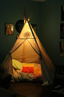 teepee now in the livingroom