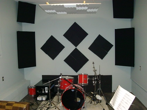 Online Drum Lessons: The Difference A Little Acoustic Treatment Makes To Your Drum Room...