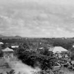 Batangas City, Philippines 1945, Mt Makulot (Macoulod) in the distance
