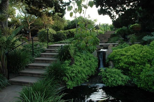 Steps Next To The Fountians Self Realization Fellowship Meditation Garden Encinitas