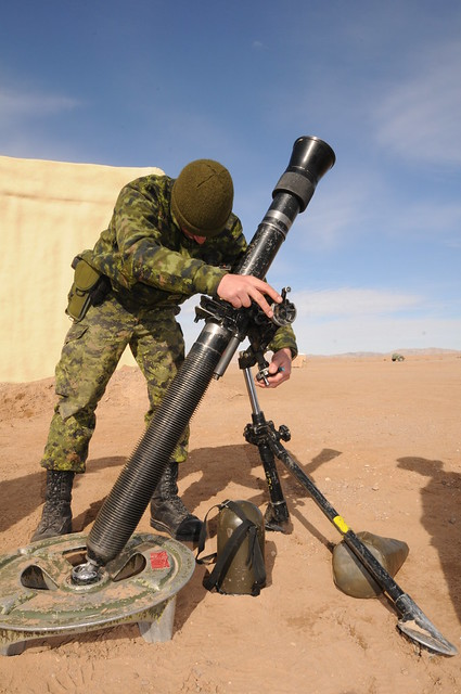Military Mortar Sizes : Lt barber sites the mm mortar flickr photo sharing