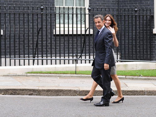 President Sarkozy and his wife Carla Bruni