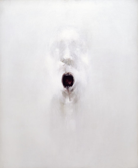 Head with Open Mouth, by Louis le Brocquy