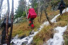 iNorge Najaarsreis 2010 Gaustatoppen, Overal komt water de berg af zetten