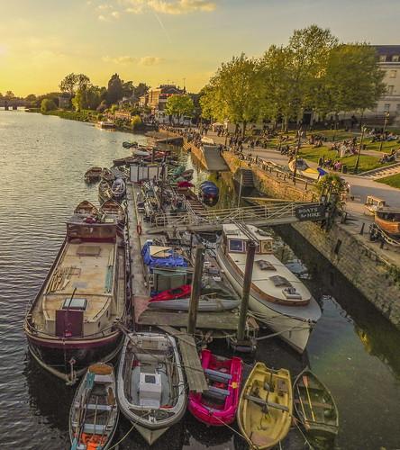 richmond london europe england englanduk thames river trespass travel tourist trees town boat sunset water