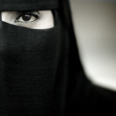 Samira, veiled woman from Salalah, Oman