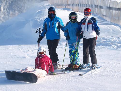 Familie op 2000 meter