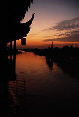 sunset @ zhujiajiao
