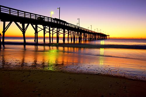 ocean sea sun beach water beautiful sunrise dawn pier nc sand top shell sail topsail