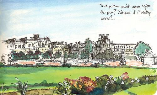 Tuilerie Gardens and Rue De Rivoli