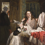 St Valentine's Morning, John Callcott Horsley, Oil on Canvas, 1863