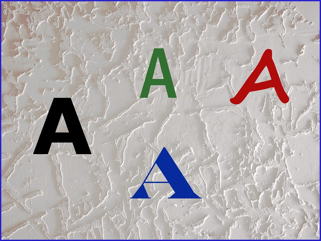 A lesson with a letter A