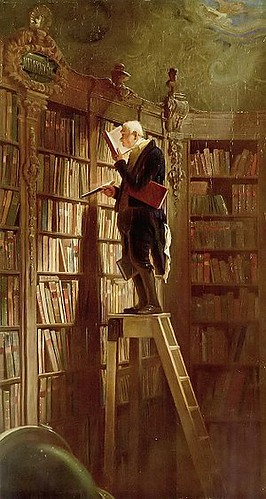 Spitzweg, Carl (1808-1885) - 1850 The Bookworm (Museum Georg Schafer, Schweinfurt, Germany)