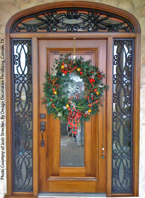 Faux Wrought Iron Door Sidelights And Transom Inserts