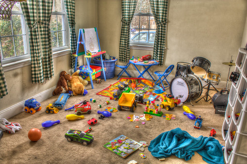 messy toy room