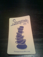 Stumptown coffee business card