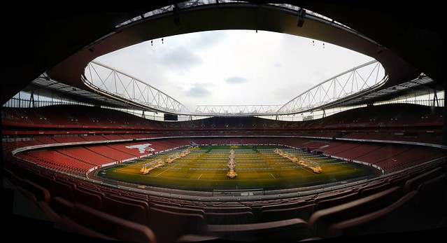 At the Emirates Stadium