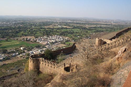 india fort aerial rajasthan chittorgarh