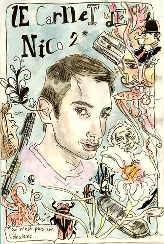 sketchbook 2, cover, selfportrait
