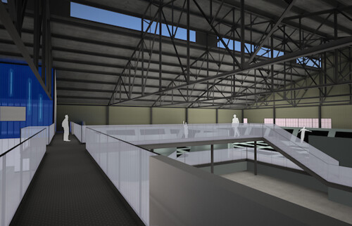 Second floor catwalk explore houseofair 39 s photos on for Catwalk flooring