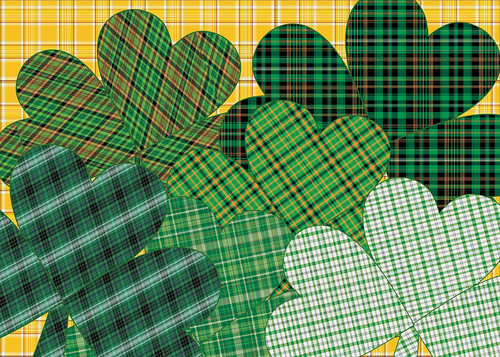 Plaid Shamrocks St. Patrick's Day Card