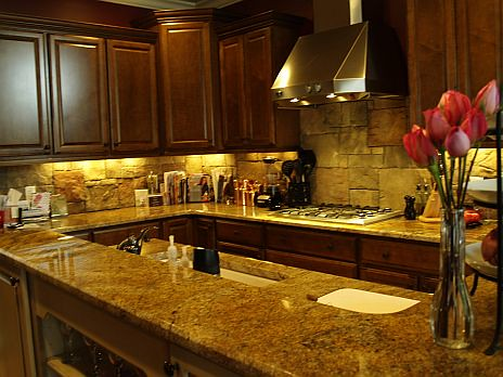 kitchen with rock backsplash flickr photo sharing