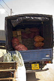 How produce is transported to the market