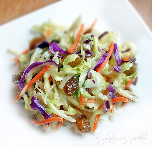 Snappy crunchy vegan coleslaw no mayo gluten free goddess recipes - Mayonnaise without eggvegan recipes ...