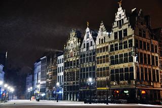 Snow, Antwerp, Belgium