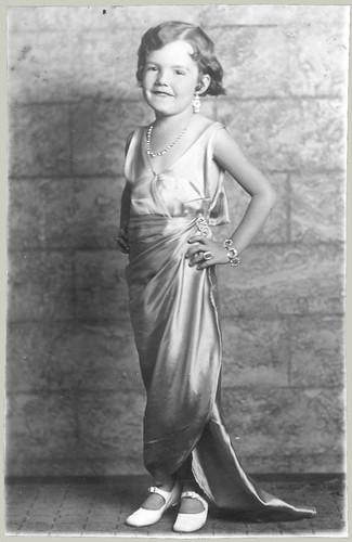 Child in long dress